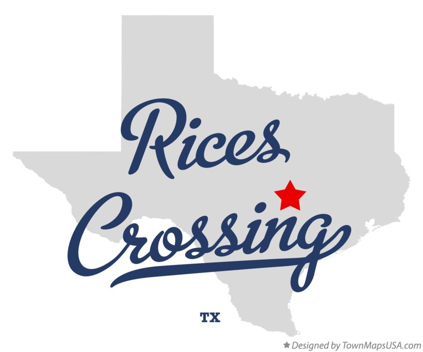 Map of Rices Crossing Texas TX