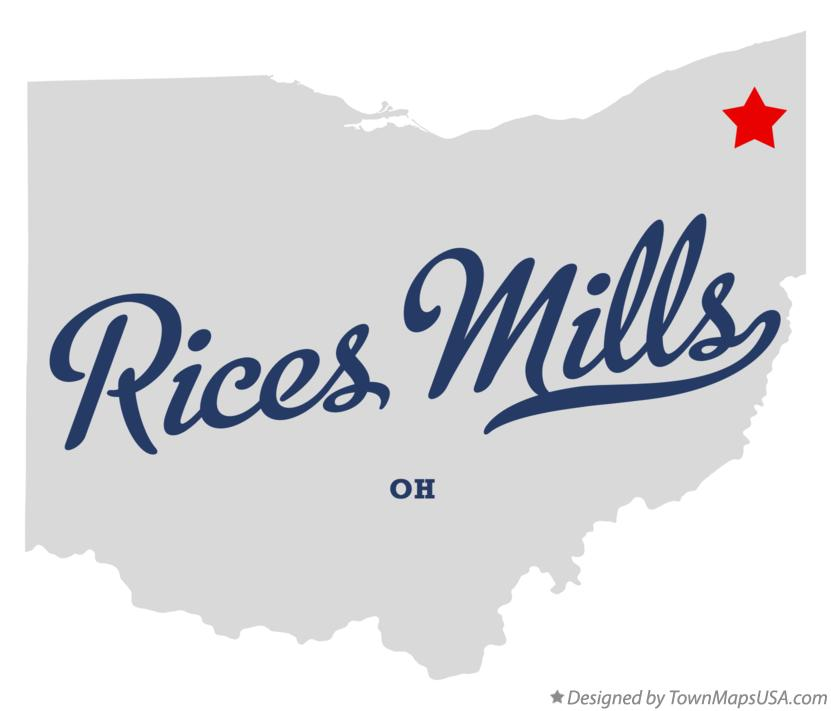 Map of Rices Mills Ohio OH