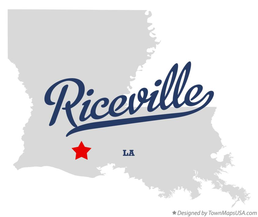 Map of Riceville Louisiana LA