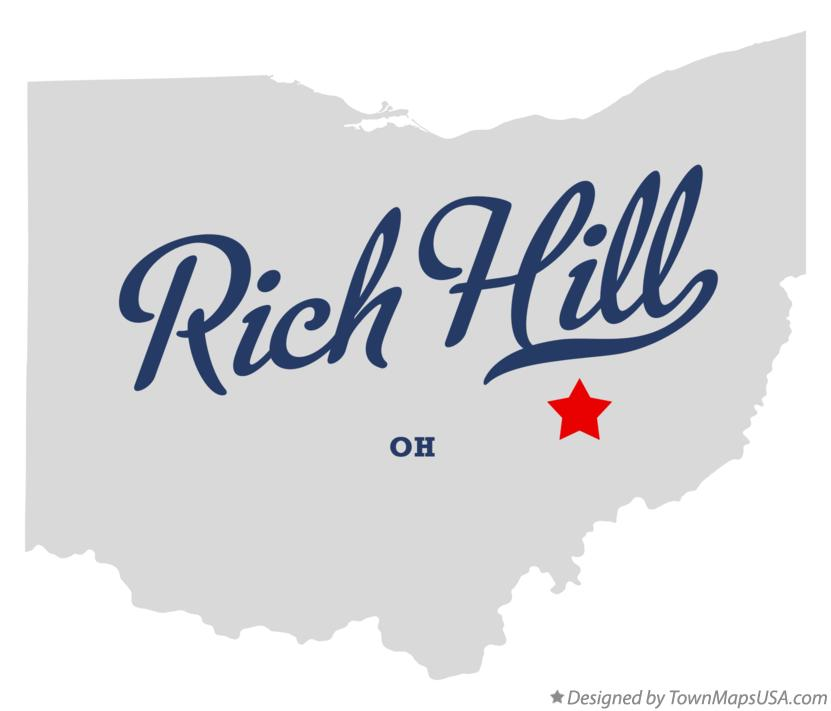 Map of Rich Hill Ohio OH