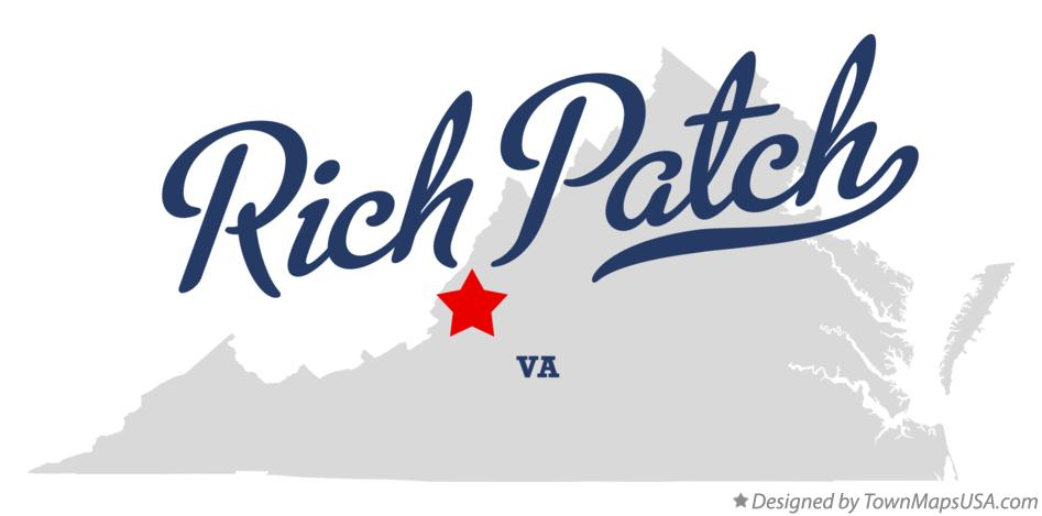 Map of Rich Patch Virginia VA