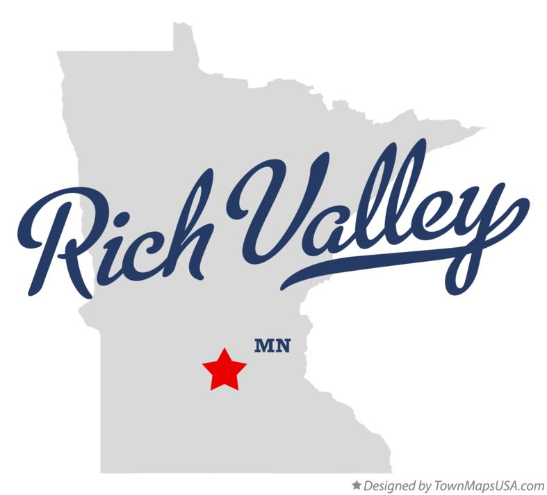 Map of Rich Valley Minnesota MN