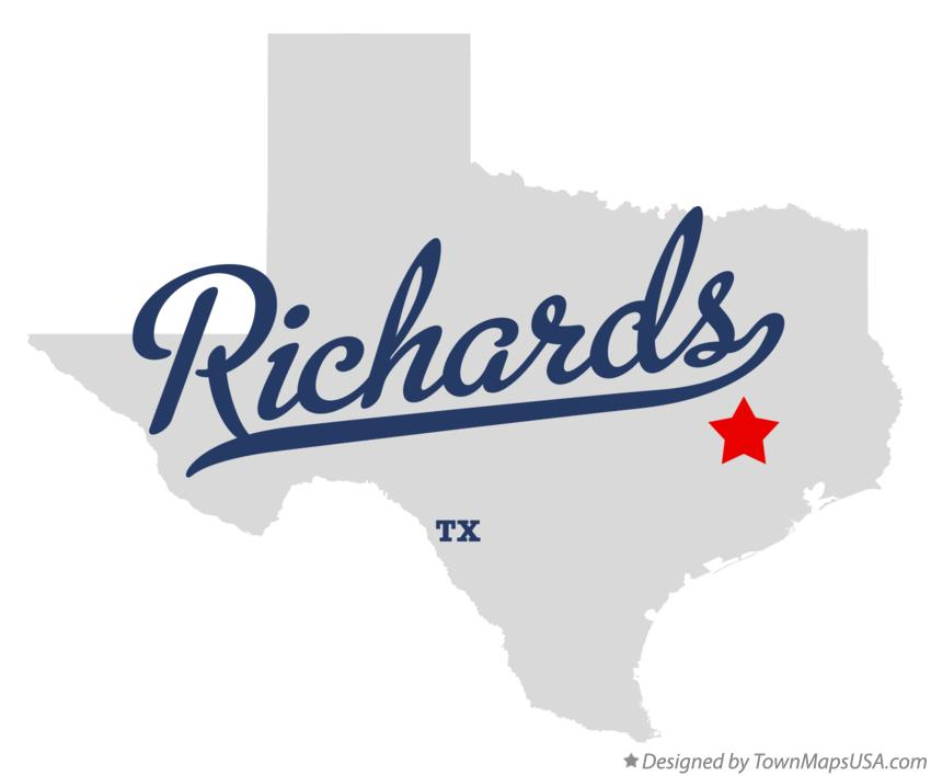 Map of Richards Texas TX