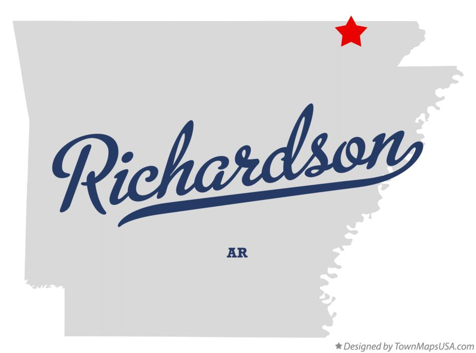 Map of Richardson Arkansas AR