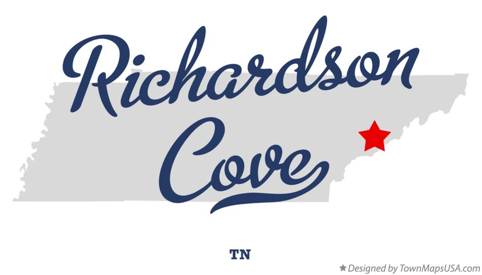 Map of Richardson Cove Tennessee TN
