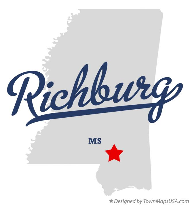 Map of Richburg Mississippi MS