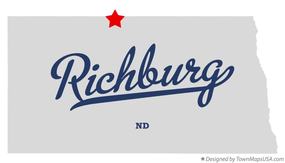 Map of Richburg North Dakota ND