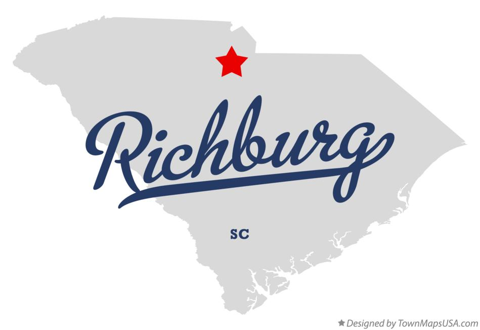 Map of Richburg South Carolina SC