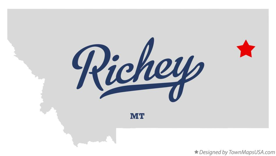 Map of Richey Montana MT