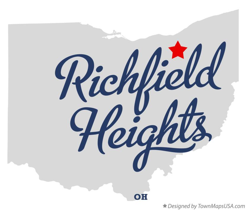 Map of Richfield Heights Ohio OH