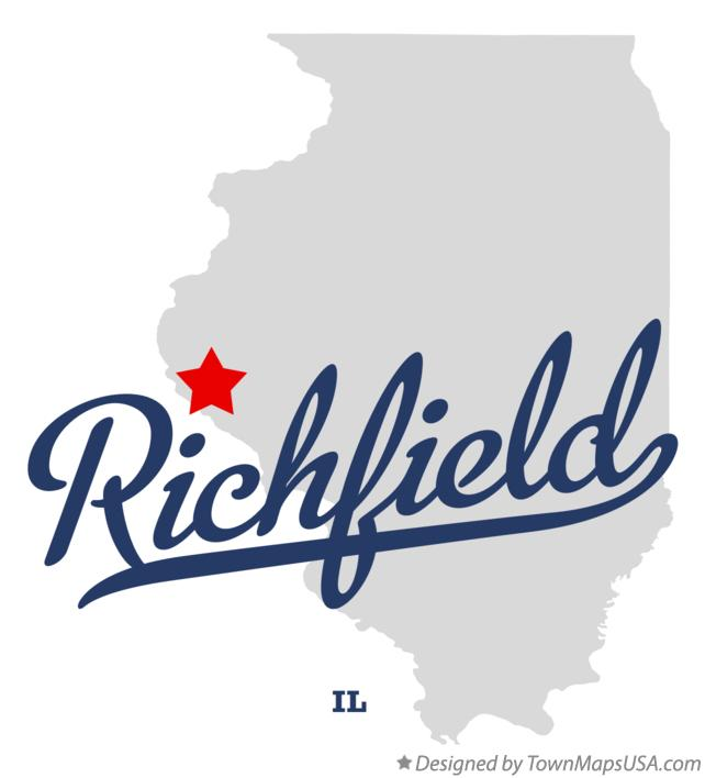 Map of Richfield Illinois IL