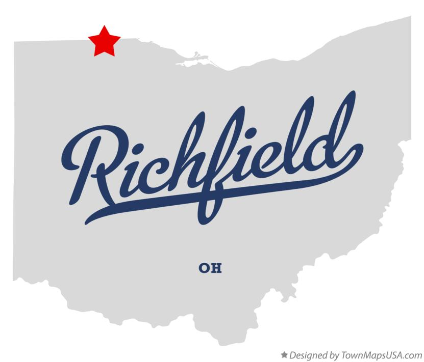 Map of Richfield Ohio OH