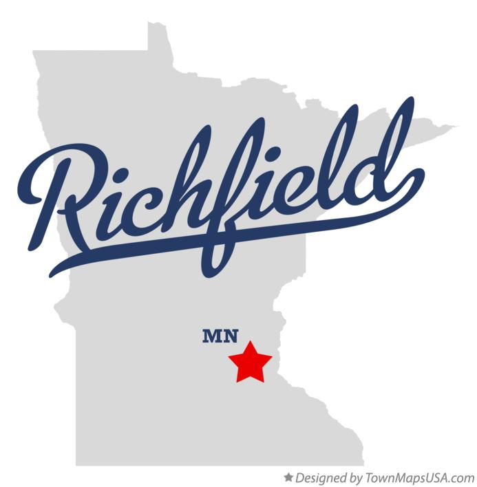 Map of Richfield Minnesota MN