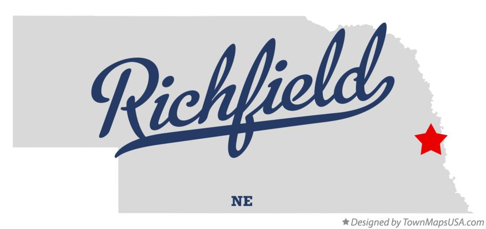 Map of Richfield Nebraska NE