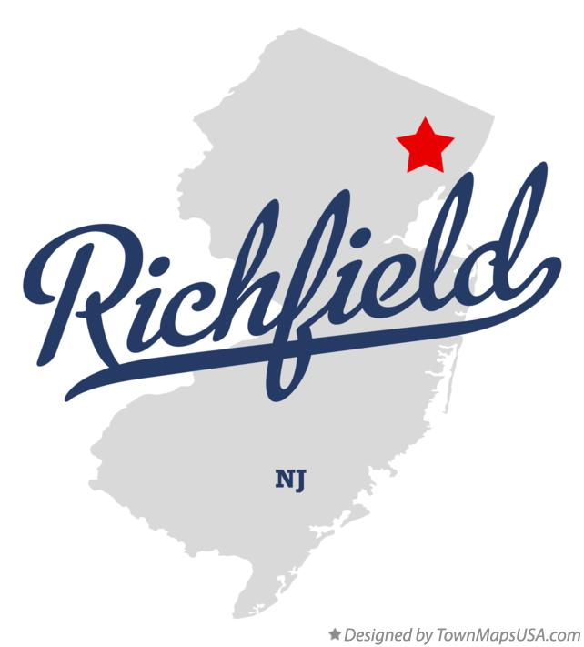 Map of Richfield New Jersey NJ