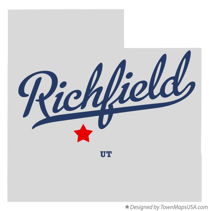 Map of Richfield Utah UT