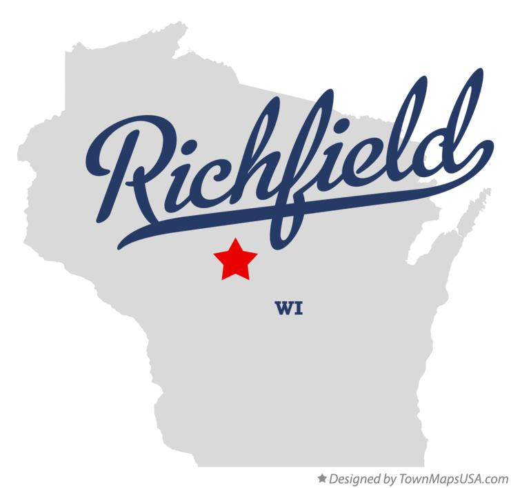 Map of Richfield Wisconsin WI