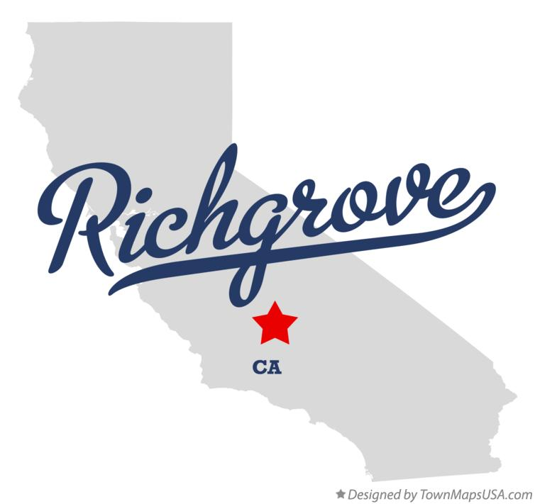 Map of Richgrove California CA