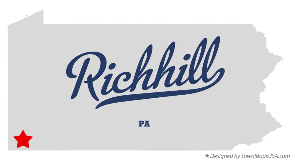 Map of Richhill Pennsylvania PA
