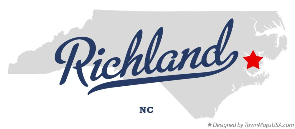 Map of Richland North Carolina NC