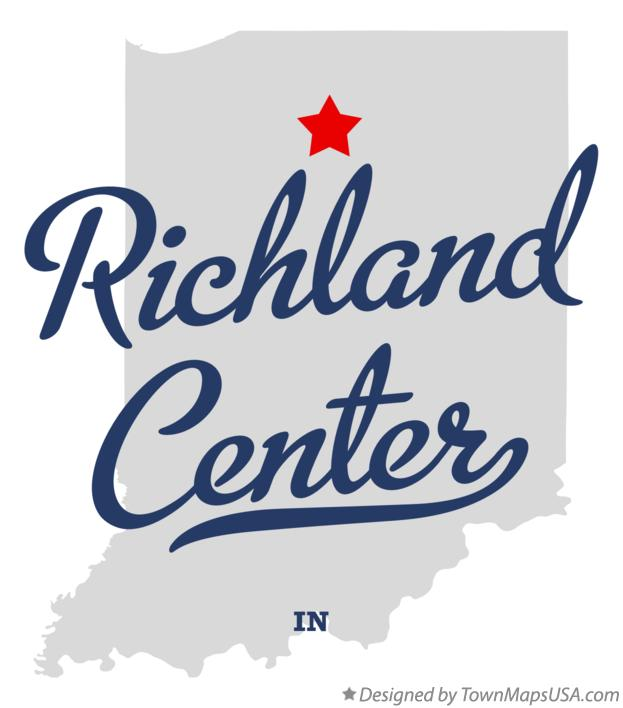 Map of Richland Center Indiana IN
