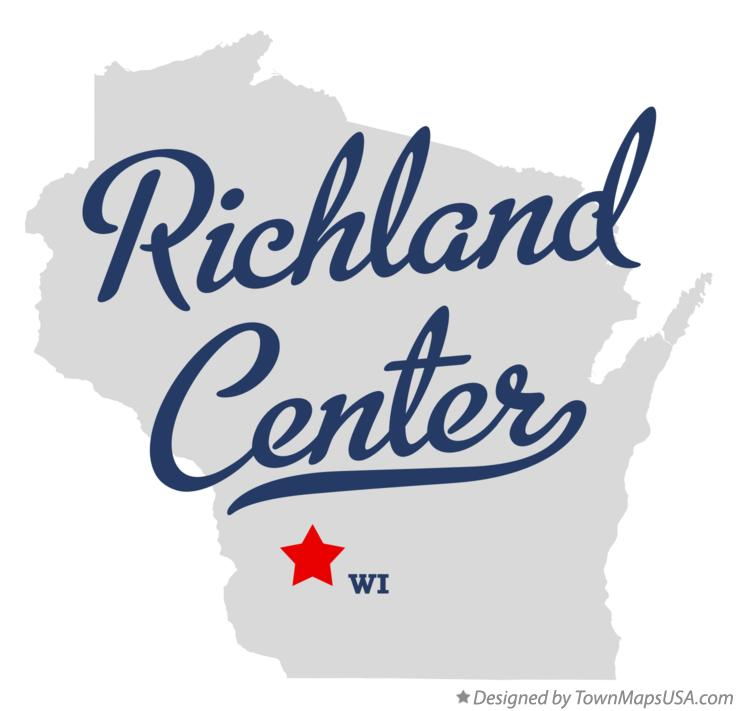 Map of Richland Center Wisconsin WI