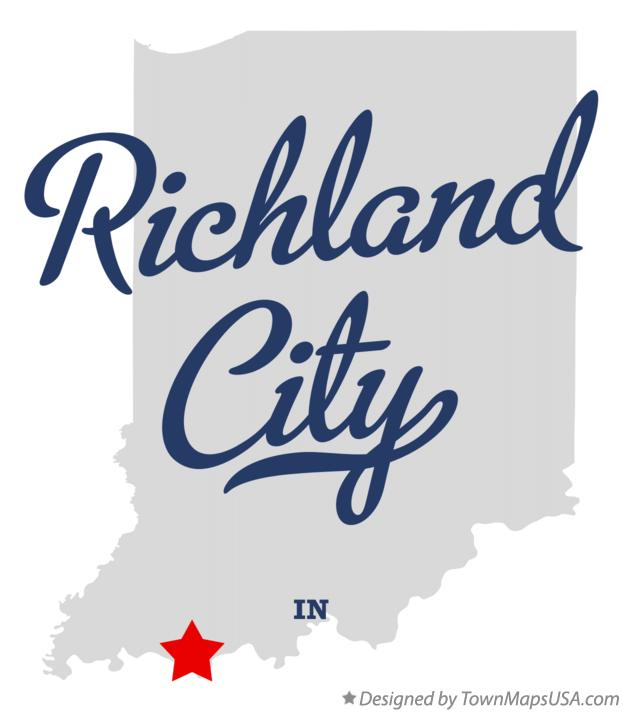 Map of Richland City Indiana IN