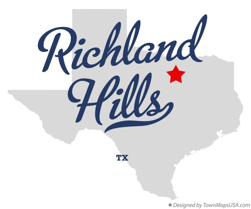 Map of Richland Hills Texas TX