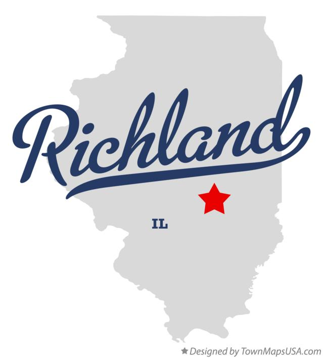 Map of Richland Illinois IL