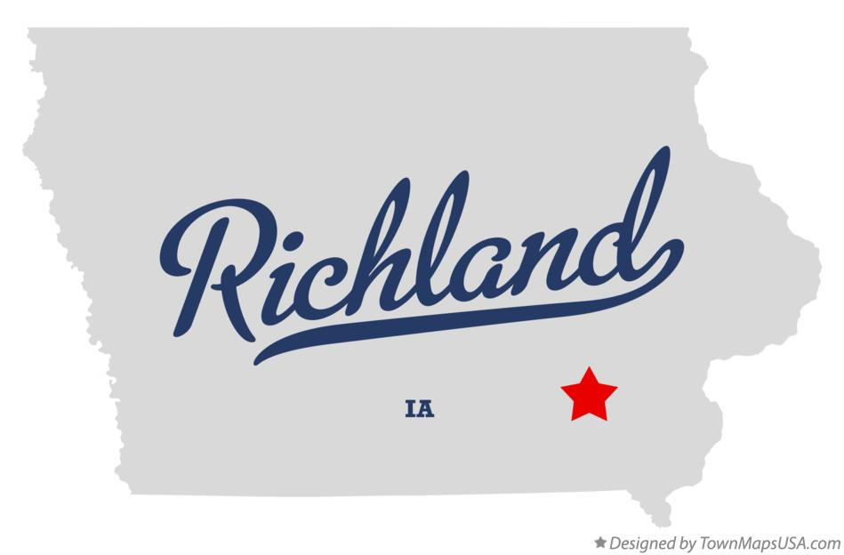 Map of Richland Iowa IA