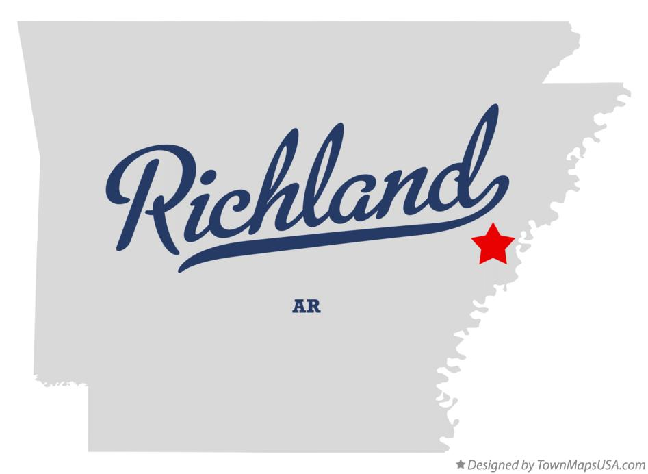 Map of Richland Arkansas AR