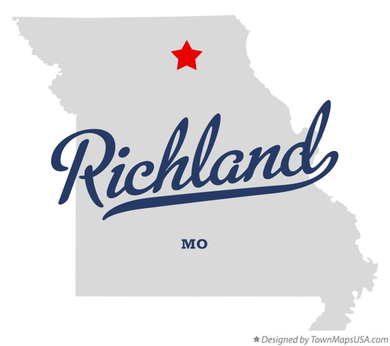Map of Richland Missouri MO
