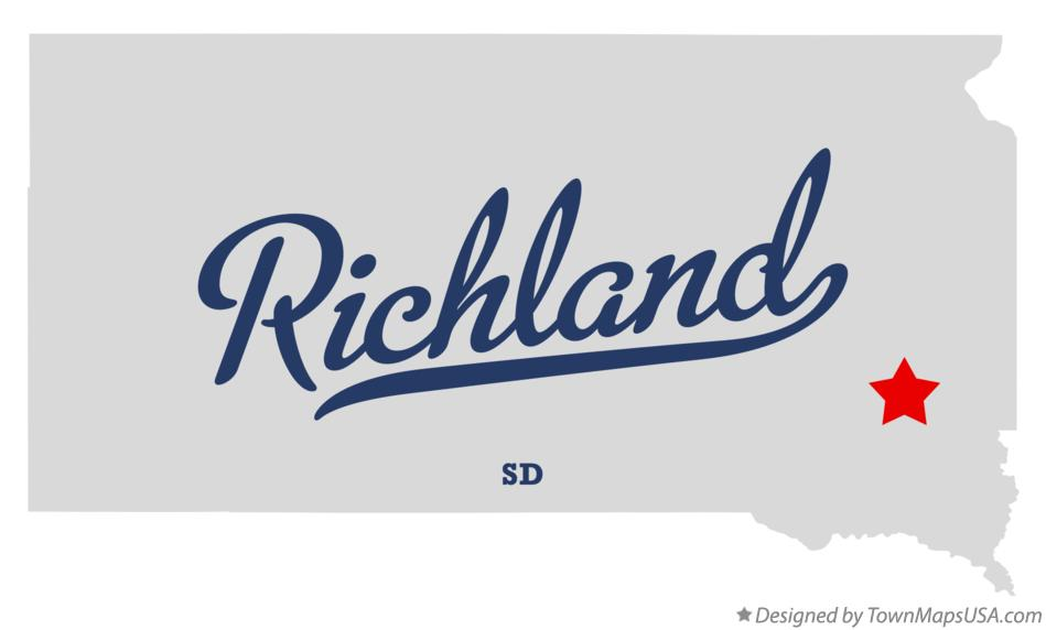 Map of Richland South Dakota SD