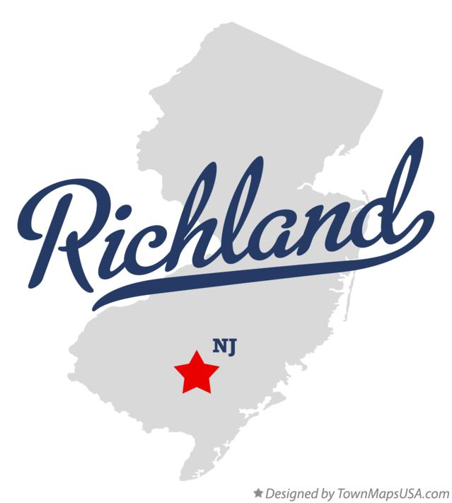 Map of Richland New Jersey NJ