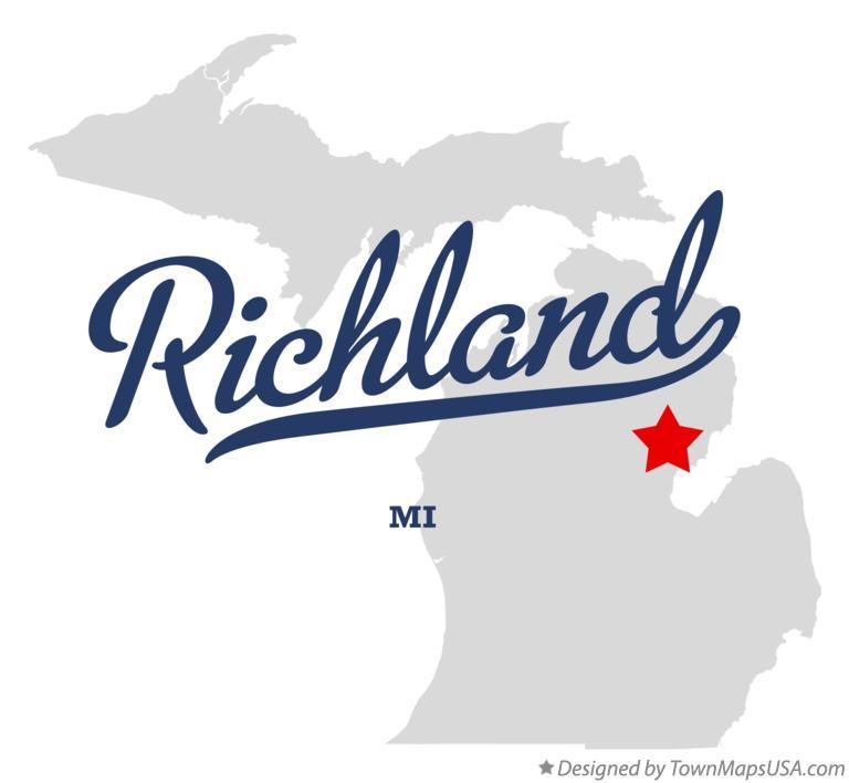 Map Of Richland Ogemaw County Mi Michigan