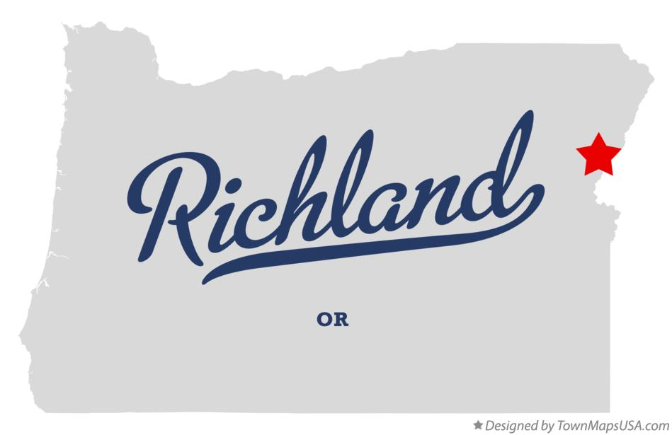 Map of Richland Oregon OR