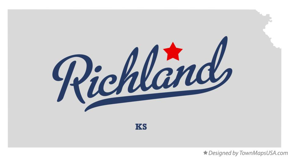 Map of Richland Kansas KS