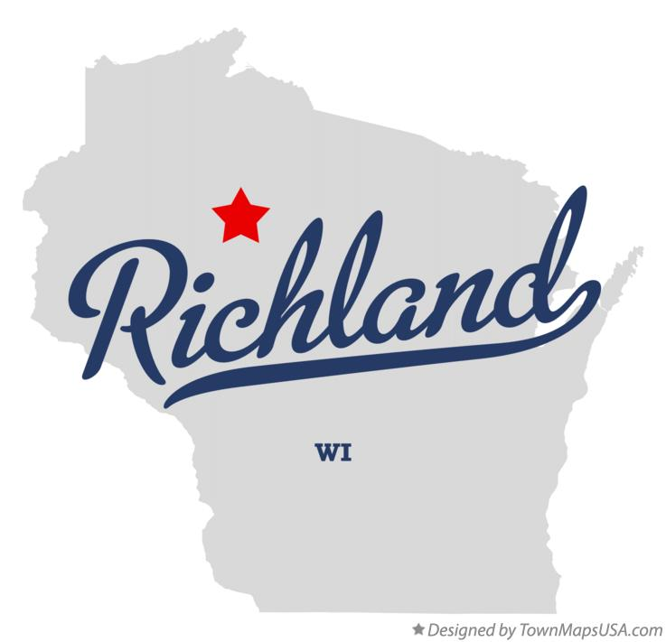 Map of Richland Wisconsin WI