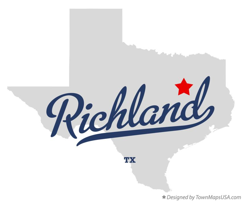 Map of Richland Texas TX