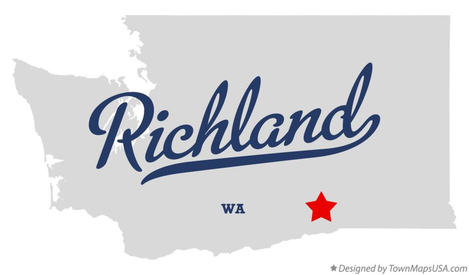 Map of Richland Washington WA