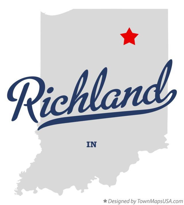 Map of Richland Indiana IN