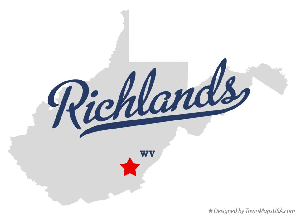 Map of Richlands West Virginia WV
