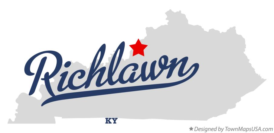 Map of Richlawn Kentucky KY