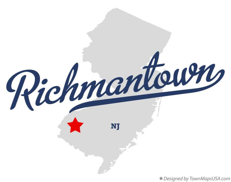 Map of Richmantown New Jersey NJ