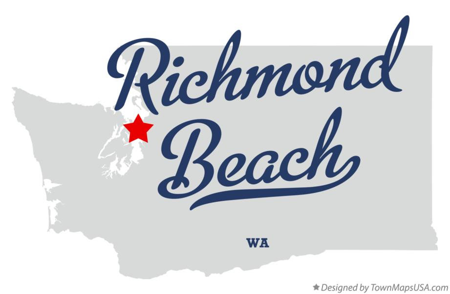 Map of Richmond Beach Washington WA