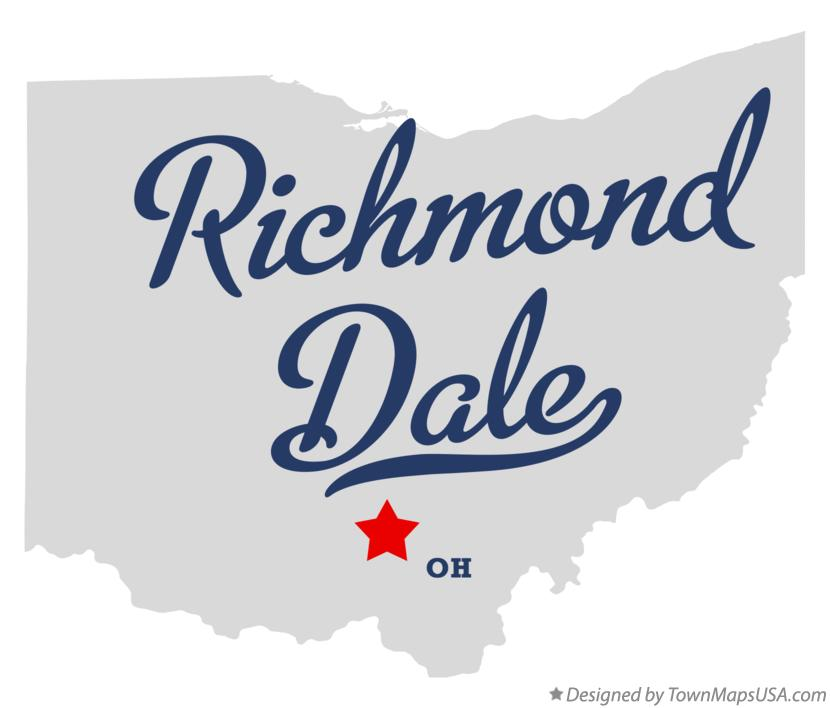 Map of Richmond Dale Ohio OH