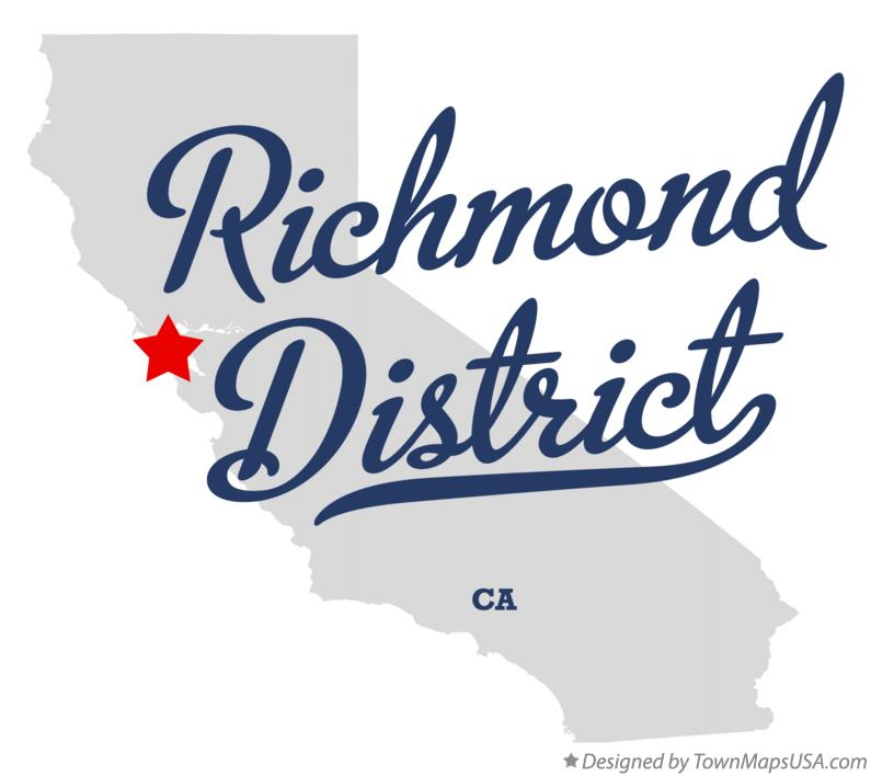 Map of Richmond District California CA
