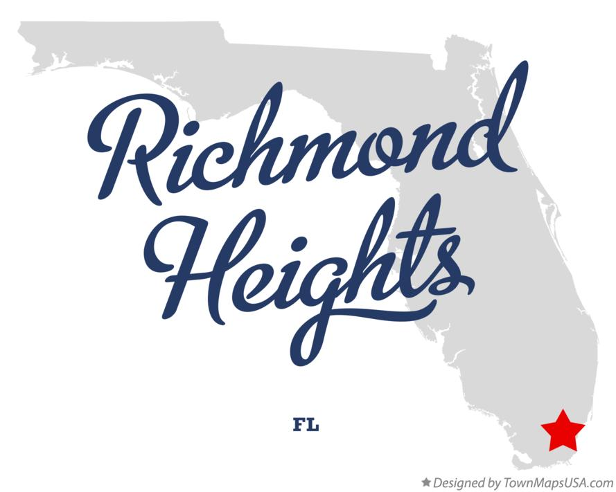 Map of Richmond Heights Florida FL