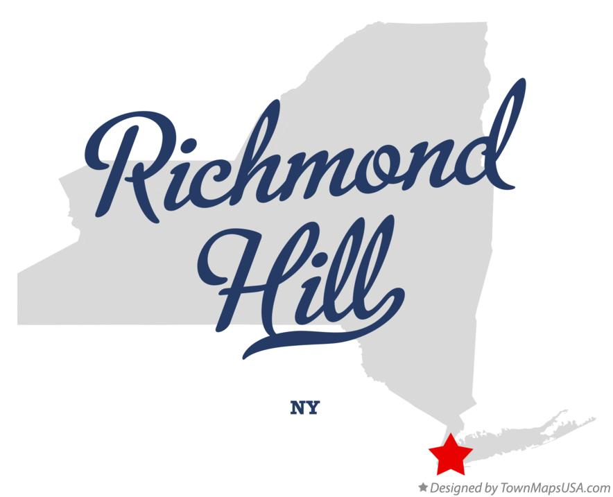 Map of Richmond Hill New York NY