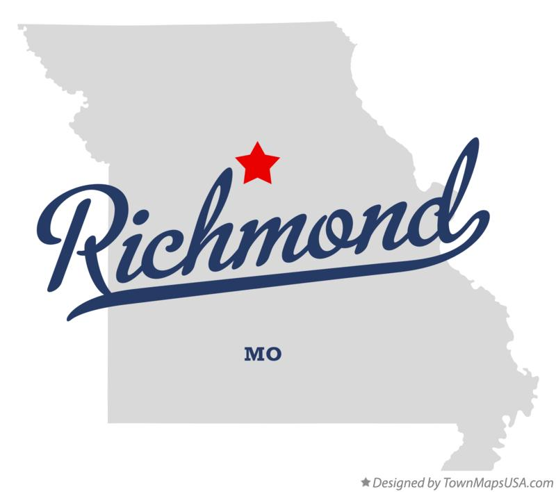 Map of Richmond Missouri MO